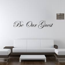 Be Our Guest Wall Sticker Quote Decal Wall Stickers