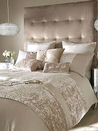 crushed velvet bedding champagne