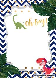 A Dinosaur Template For Your Baby Shower Invitation Invitaciones
