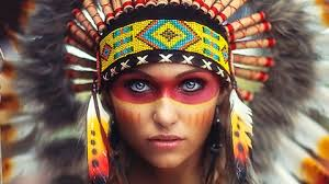 in indian costume and makeup