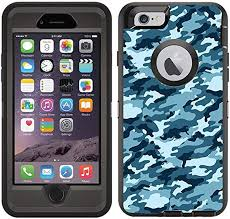 Amazon Com Teleskins Protective Designer Vinyl Skin Decals Stickers Compatible With Otterbox Defender Iphone 6 Iphone 6s Case Army Camouflage Blue Design Pattern Only Skins And Not Case