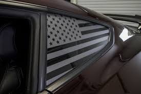 American Flag Quarter Window Decal Set 2015 2018 Mustang Premium Auto Styling