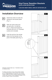 Freedom 73025560 Ready To Assemble Sand Vinyl Fence Bracket Vinyl Fence Installation Guide Manualzz