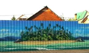 Painted Fences Metal Fence Painting Ideas Painted Fence Panel Ideas Garden Fence Art Fence Art Fence Paint