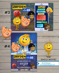 The Emoji Movie Birthday Invitation Printable Con Imagenes