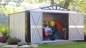 4 garden shed organization tips for a