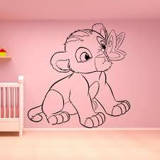 Vinyl Wall Decals Lion King Art Wall Sticker Home Decor Bedroom Simba Baby Room Decoration Cartoon Wall Ornament B542 Wall Stickers Aliexpress