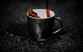 تحميل خلفيات كوب القهوة 4k صب القهوة صباح الخير حبوب البن