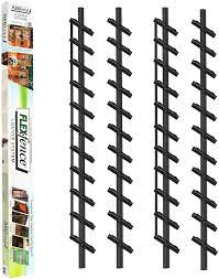 Amazon Com Flex Fence Decorative Versa Fence Louver System Perfect For Gardens Patios And Outdoor Spaces Indoor And Outdoor Use 2 Pack Garden Outdoor