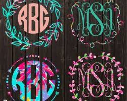 Image Result For Car Initial Decals Lilly Pulitzer Monogram Decal Car Monogram Decal Monogram Decal