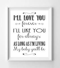 I Ll Love You Forever 8x10 Wall Art Poster Print J S Graphics