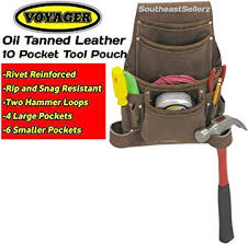 oil tanned leather tool pouch rivet