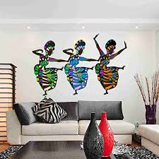 Amazon Com African Art Dancers Wall Decal Sticker By Style Apply Wall Sticker Vinyl Wall Art Home Decor Wall Mural Sd3074 16x10 Home Kitchen
