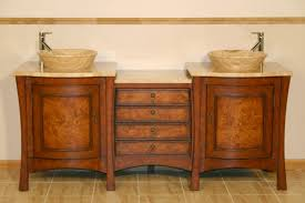 72 inch double vessel sink bath vanity