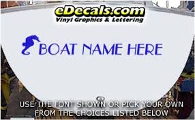 Wsd410 Seahorse Your Name Here Boat Decal Edecals Com