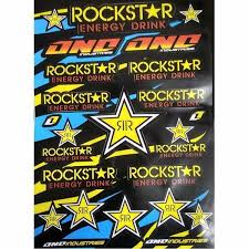 Rockstar Energy Drink Decals Stickers For Pit Bike Dirt Bike Motorcycle Motocross Supermoto Atv Sticker Dirt Bike Crf Yzf Kxf Exc Car Size 31 45cm Wish