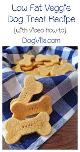 low fat veggie treats recipe for dogs