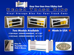 Beach Trash Bins Dennisville Fence