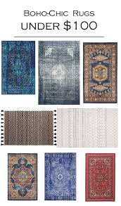 boho chic rugs under 100 where to
