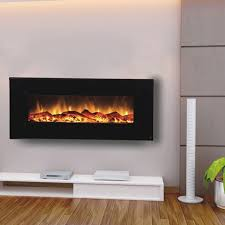 electric wall mounted fireplace black 80001