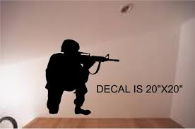 Vinyl Wall Art Decal Sticker Military Swat Team Army Men Soldier Kid Room Decor For Sale Online Ebay