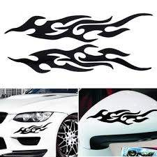 Black Pet Fire Totems Creative Funny Stereoscopic Car Scratch Rearview Mirror Sticker Accessories Buy At A Low Prices On Joom E Commerce Platform