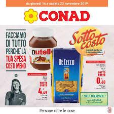 Volantino Conad Sottocosto fino al 23/11 dal 14/11/2019