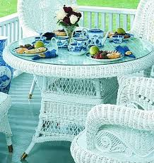 rattan furniture country dining room