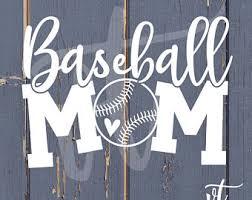 Baseball Mom Decal Etsy