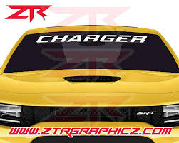 Dodge Charger Windshield Decal Ztr Graphicz