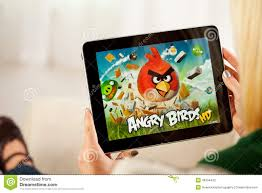 Woman Playing Angry Birds Video Game On Apple IPad 1 Editorial Photography  - Image of video, ipad: 46304442