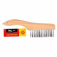 Pal Wire Brush 2 Row Scratch Wire Brushes Steel Wool Mitre 10