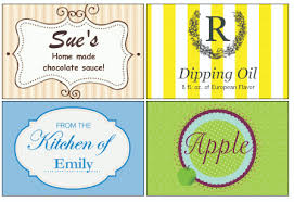 homemade food and gift labels
