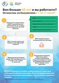 Продлен карантин для работников в возрасте 65 лет и старше с 1 по 11 июня  2020 года - Государственное учреждение - Костромское региональное отделение  Фонда социального страхования Российской Федерации