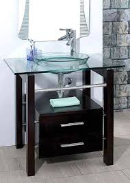 tempered clear glass vessel sink
