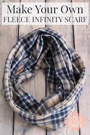 quick easy fleece infinity scarf