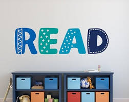Read Wall Decal Etsy