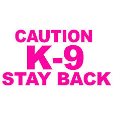 2 Pack Caution K 9 Stay Back V1 6 Hot Pink Vinyl Decal Window Sticker 9 99 Picclick