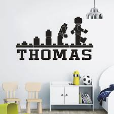 Lego Games Fun Wallpaper Personalized Name Wall Decals Kids Bedroom Vinyl Stickers Cartoon Games Mural Children Wall Art Decor Buy At The Price Of 3 98 In Aliexpress Com Imall Com