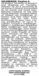 Obituary for Steve Goldberger - Newspapers.com