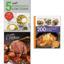 200 slow cooker recipes 3 books