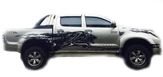 Black Color Sticker Cover Car Decal 4 Doors For Toyota Hilux Vigo Sr5 Mk6 05 14 Ebay