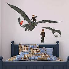 How To Train Your Dragon Toothless Wall Sticker Set Art Decal Ebay