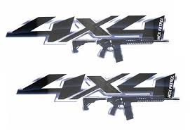 2pcs 12 Black 4x4 Letters W Ar15 M4 M16 Rifle Decals For Truck Suv Bedside Ijdmtoy Com