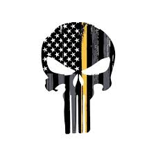 Thin Gold Line Punisher Skull Vehicle Decal Vinyl Decal Etsy Military Stickers Police Decal Punisher Skull