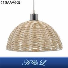 artistic woven rattan pendant lamp