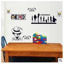 Super Cartoon Marine Wall Sticker One Piece Car Sticker Vinyl Wall Decal Strong World Stickers Shopee Malaysia