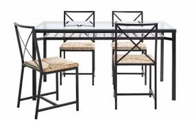ikea granas glass dining table and