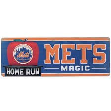 Open Road New York Mets 10 X 28 Wood Cooperstown Collection Wall Art