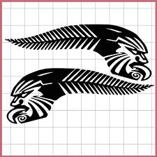 Silver Fern Tribal Maori Moko Design Car Sticker Kiwi Pride Etsy